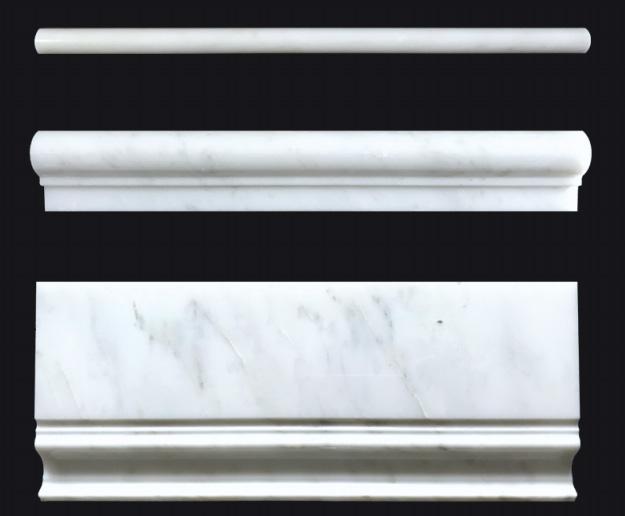 Oriental White (White) Marble Skirting Baseboard Moulding