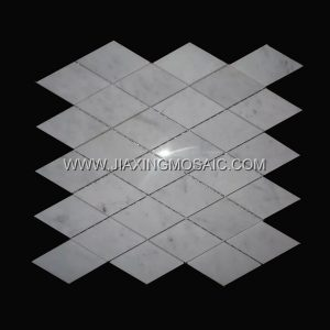 Carrara White Diamond Marble Mosaic Tiles