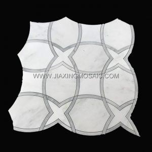 Oriental White Marble Waterjet Mosaic (JX-EW-WJ003)