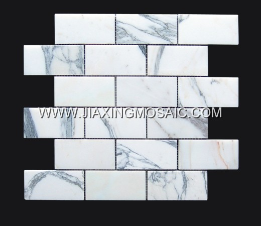 Calacatta Gold Polished Marble Mosaic 2 x 4