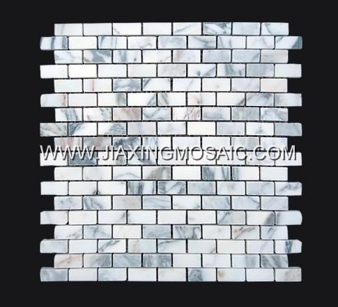 Calacatta Gold Polished Marble Mosaic Brick Marble Mosaic Tile
