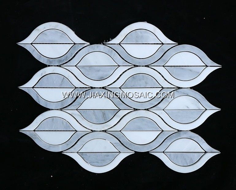 Oriental White Marble Waterjet Mosaic (JX-EW-WJ004)