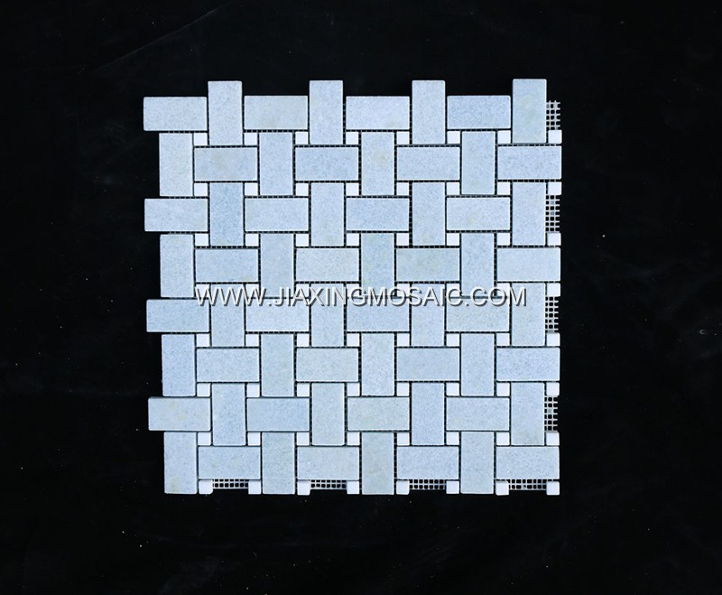 Argentina Blue Basketweave Mosaic Tile