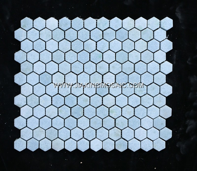 Argentina Blue Hexagon Mosaic Tile