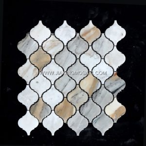 Calacatta Gold Polished Marble Lantern Design Marble Mosaic Tile