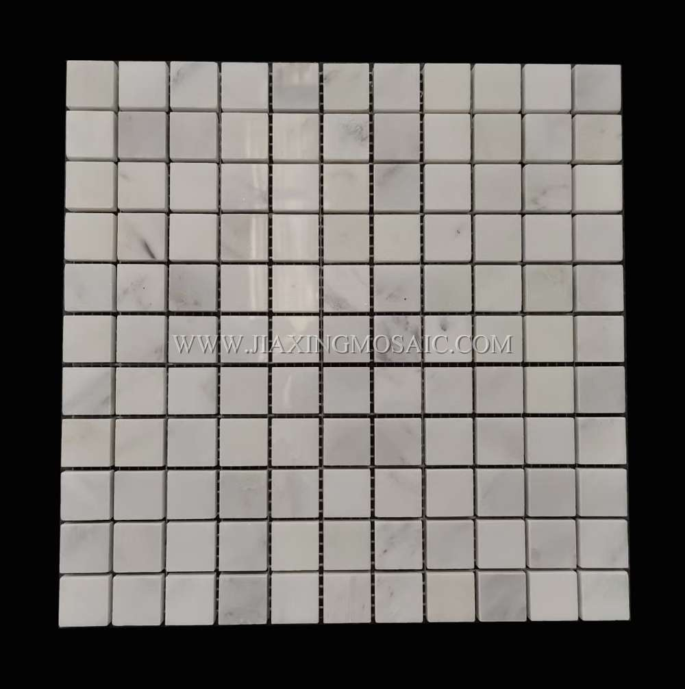 Eastern White Polished Marble Square Mosaic Tiles