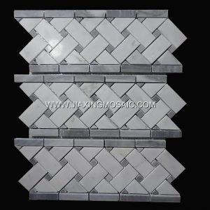 Eastern White Marble Mosaic Boder Tile