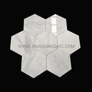 Eastern White Hexagonal Mosaic Tile