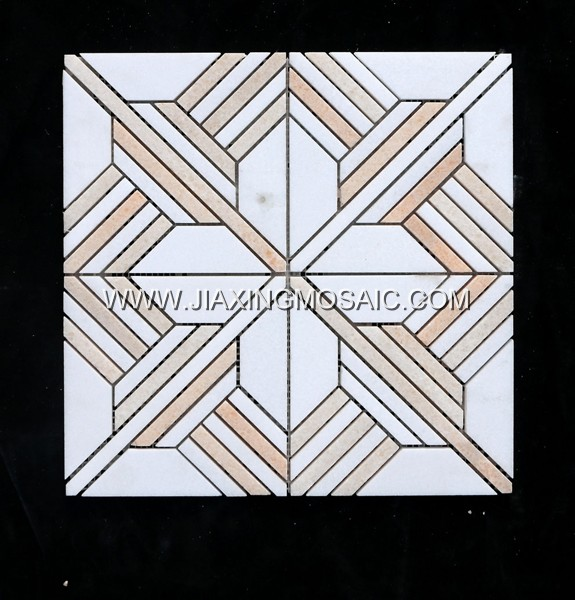 New design hotsale mosaic Thassos white and Orange onyx marble mosaic