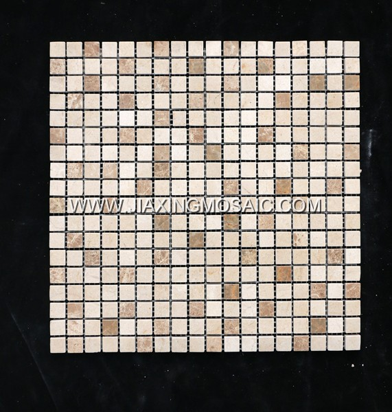 Crema Marfil Polished Marble Square Mosaic Tiles
