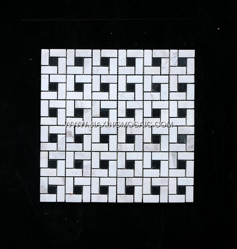 Pinwheel Volakas Marble Mosaic Tile