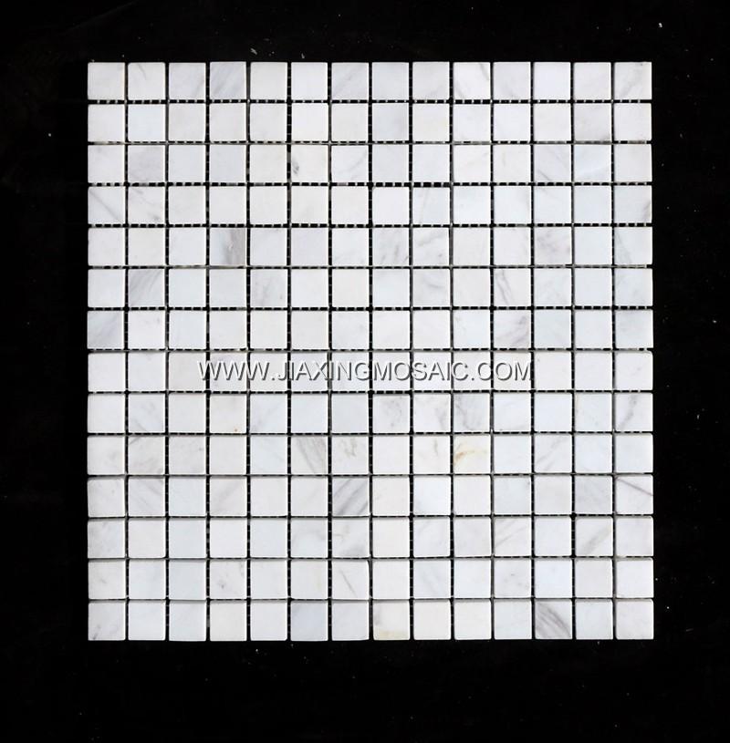 Volakas Square Marble Mosaic Tile