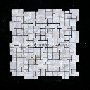 Ionian Square Marble Mosaic Tile