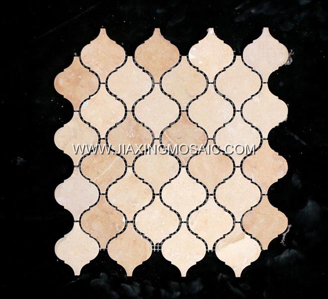 Beckinsa Polished Marble Arabasque/Lantern Marble Mosaic Tiles