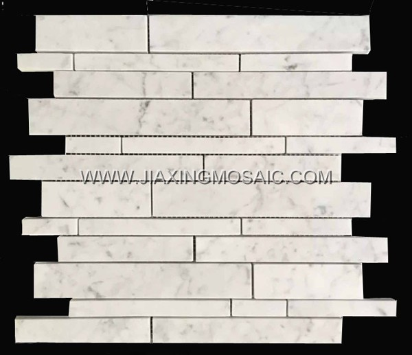 Hot Sale Carrara White Marble Brick Mosaic Tile