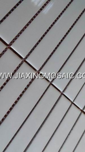 Pure white color porcelain mosaic