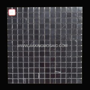 Nero Margiua Square Design Polished Marble Mosaic Tile