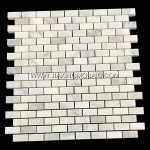Eastern White Polished Marble Mosaic Brick Marble Mosaic Tile