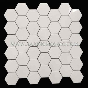 Thassos White Hexagon Marble Mosaic Tile