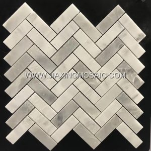 XueLian White Herringbone Mosaic Tile