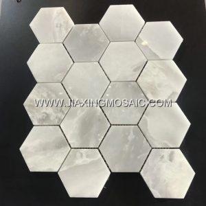 Xuelian White Hexagonal Mosaic Tile