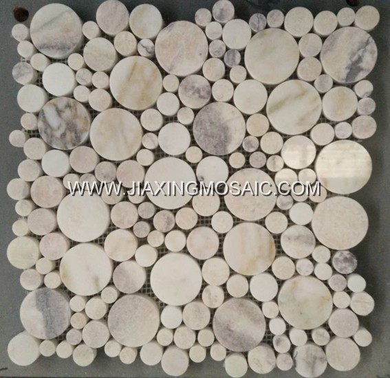 Bubble Round Violet Marble Mosaic