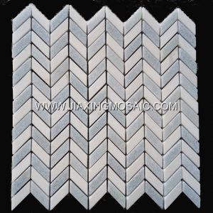 Argentina Blue Herringbone Mosaic