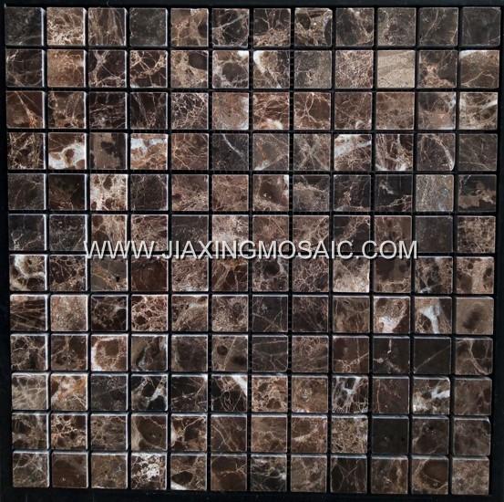 Emperador Marble Square Polished Mosaic Tile