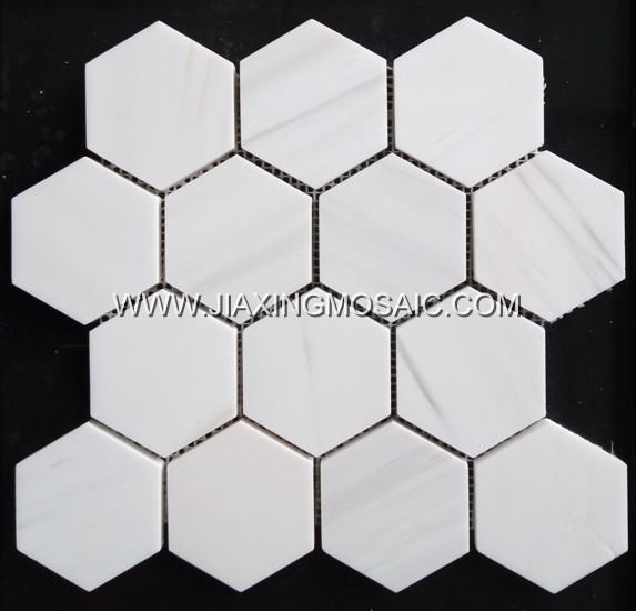 Hexagon Ariston Marble Mosaic
