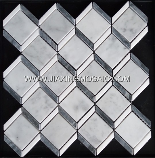 New design carrara white square mosaic tile