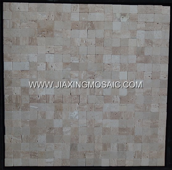 Beige Travertine Square Mosaic Tile