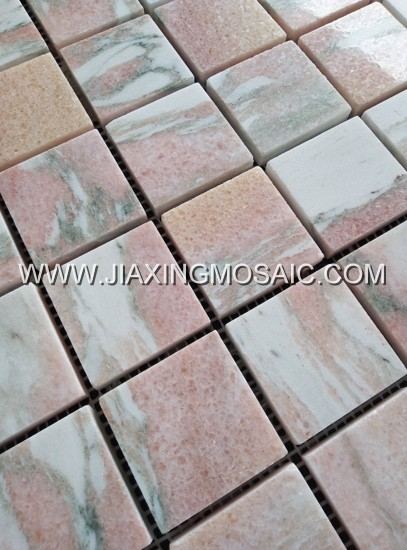 Rosa Norvegia Polished Marble Square 2 x 2'' Mosaic Tiles