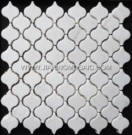 Arabesque Eastern White Marble Mosaic