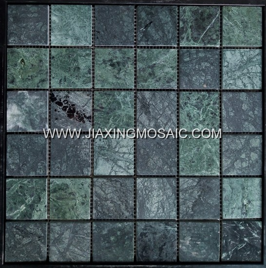 India Green Square Marble Mosaic Tile