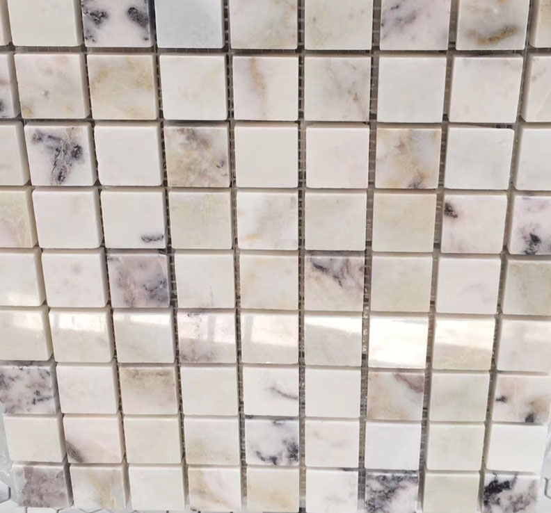 Violet Square Marble Mosaic