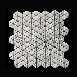 Hexagon Carrara White Polished Marble Mosaic Tile