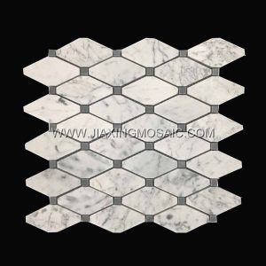 Carrara White Marble Polished Octave Mosaic Tiles