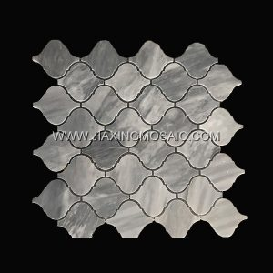 Carrara Grey Polished Marble Arabasque/Lantern Marble Mosaic Tiles