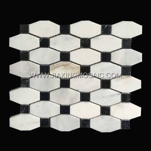 Calacatta Gold Marble Polished Octave Mosaic tiles