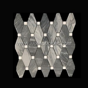 Carrara Grey Marble Tile Long Octagon Thassos White Marble Mosaic Tile