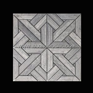 Wooden Blue Polished Marble Mosaic
