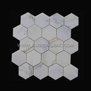 High end marble mosaic Italian marble Calacatta gold hexagon polished mosaic