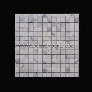 Calacatta Gold Polished Marble Square Art Design Marble Mosaic Tiles