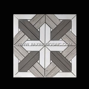 Athens Wooden Polished Marble Mosaic