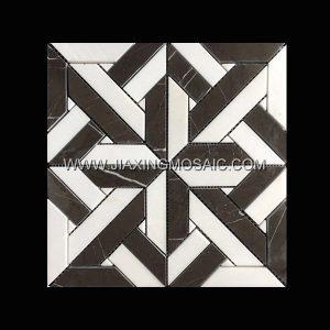 Nero Margiua Crystal White Square Polished Marble Mosaic Tile