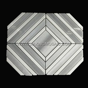 Marmala White Thassos White  Square Polished Marble Mosaic Tile