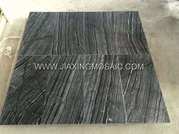 Tree Black Marble Tile