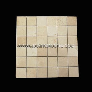 Square Giallo Atlantide Polished Marble Mosaic Tile