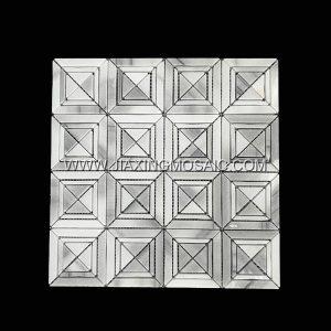 Square Shaped Marmala White Marble Mosaic Tile