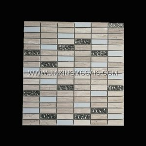 Strips Wooden White Stainless Steel Glass Polished Marble Mosaic Tile